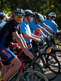 Cyclists race Royalty Free Stock Images