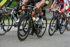 Cyclists racing Stock Photo