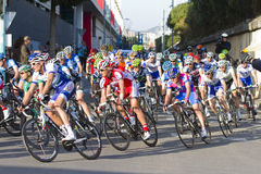 Cyclists racing Royalty Free Stock Photos