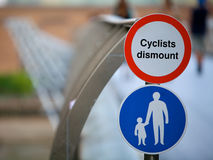 Cyclists Road Signs Royalty Free Stock Image