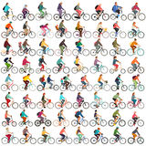 Cyclists  set Stock Photos