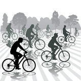 Cyclists Stock Photography