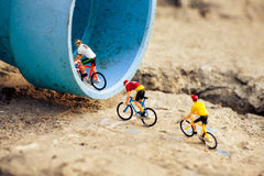 Cyclists tiny toy Royalty Free Stock Images