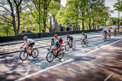Cyclists in Tour de Yorkshire 2018 royalty free stock image