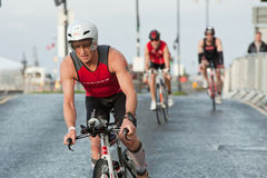 Cyclists, triathlon Stock Photos