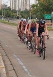 Cyclists At Triathlon Stock Image