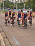 Cyclists At Triathlon Royalty Free Stock Image