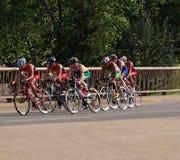 Cyclists At Triathlon Royalty Free Stock Photo