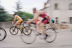 Cyclists at the triathlon of Sommières 2009 Stock Photo