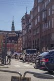 Cyclists waiting for green light in central Copenhagen Denmark E Stock Photography
