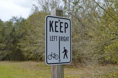 Cyclists and Walkers Sign Royalty Free Stock Images