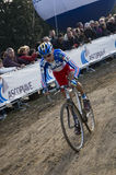 Cyclo перекрестный всадник Стоковая Фотография
