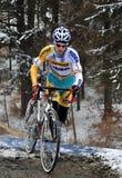 Cyclo Cross Championship Czech Republic. CZECH REPUBLIC - JANUARY 9, Zdenek Sybar of Czech Republic, Cyclo Cross Championship in The Czech Republic, 9. january royalty free stock photos