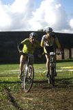 Cyclo cross competition in Rome Stock Images