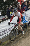 Cyclo cross rider Stock Image
