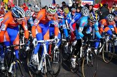 Cyclo Cross World Championship 2010. TABOR, CZECH REPUBLIC - JANUARY 30, Start Men under 23 Cyclo-Cross World Championship on January 30, 2010 in Tabor, Czech stock image
