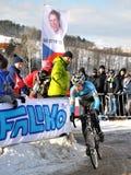 Cyclo Cross World Championship 2010. TABOR, CZECH REPUBLIC - JANUARY 30, Cyclo Cross World Championship Men under 23 on January 30, 2010 in Tabor, Czech Republic stock image