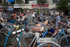 Cyclo drivers in cholon Stock Image
