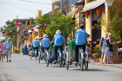 Cyclo drivers in Vietnam Royalty Free Stock Photos
