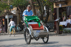 Cyclo drivers in Vietnam Royalty Free Stock Images