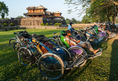 Cyclo drivers in Vietnam Stock Photography