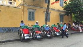 Cyclo drivers waiting for passenger Stock Photos