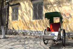 cyclo främre hoi gammala vietnam Arkivfoton
