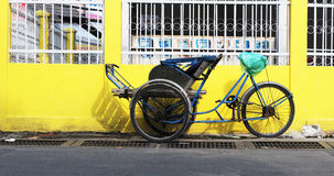 A cyclo parking on street in Saigon, Vietnam Royalty Free Stock Photo