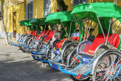Cyclo serve tourists Royalty Free Stock Photography