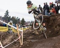 Cyclocross - Аарон Брадфорд стоковые фотографии rf