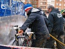 Cyclocross 2010-2011 Weltcup in Igorre Lizenzfreies Stockfoto