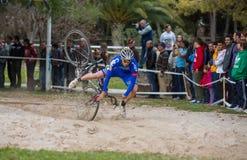Cyclocross Arkivfoton