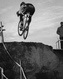 Cyclocross - Aaron Bradford B&W Royalty-vrije Stock Foto's