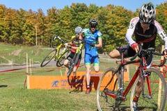 Cyclocross bariery doskakiwanie Obraz Stock
