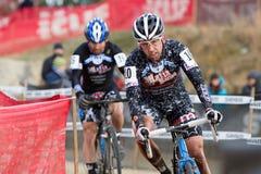 cyclocross dicenso掌握迈克尔竟赛者 免版税库存照片
