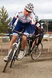 cyclocross feldman styrer raceren richard Royaltyfria Foton