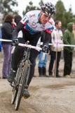 cyclocross jeremy driver den pro raceren Arkivbild