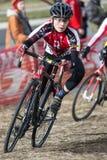 Cyclocross - Junior Racer Stock Photos