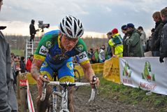 Cyclocross: no pain no gain. Thijs Al, a dutch mountainbike and cyclocross rider in action at the cross in Gavere (Belgium royalty free stock images