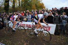 Cyclocross superstars Royalty Free Stock Image
