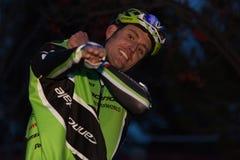 Cyclocross - Tim Johnson immagine stock