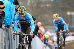Cyclocross - Tom Meusen and Klaas Vantornout Royalty Free Stock Image