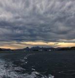 Cyclone. Over sea, Lofoten, Norway Stock Photo