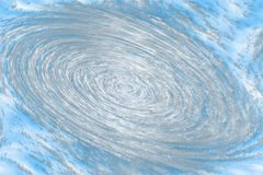 Cyclone. Drawing cyclone blue colour, the illustration Stock Photos