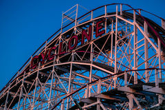 Cyclone, Coney Island. The Cyclone is the oldest roller coaster in the World that is still operating Stock Photos