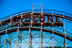 Cyclone, Coney Island. The Cyclone is the oldest roller coaster in the World that is still operating Stock Images