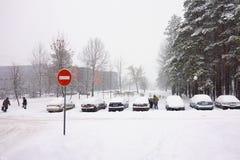 The cyclone Daniella in Brisov-city Stock Photography