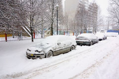 The cyclone Daniella in Brisov-city Stock Photo