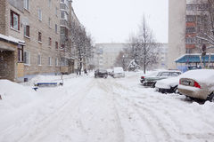 The cyclone Daniella in Brisov-city Stock Images