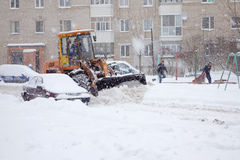 The cyclone Daniella in Brisov-city Royalty Free Stock Images